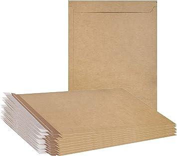 100 9.75  x 12.25  Kraft No Bend Tab Lock Mailers Rigid Flat Photo Document