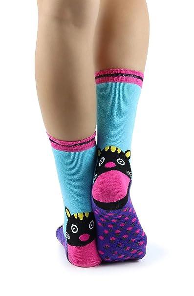 Mixmi Boutique Light Blue & Black Pantera Ankle Thermal Socks with Rubbery Non-Slip Dots