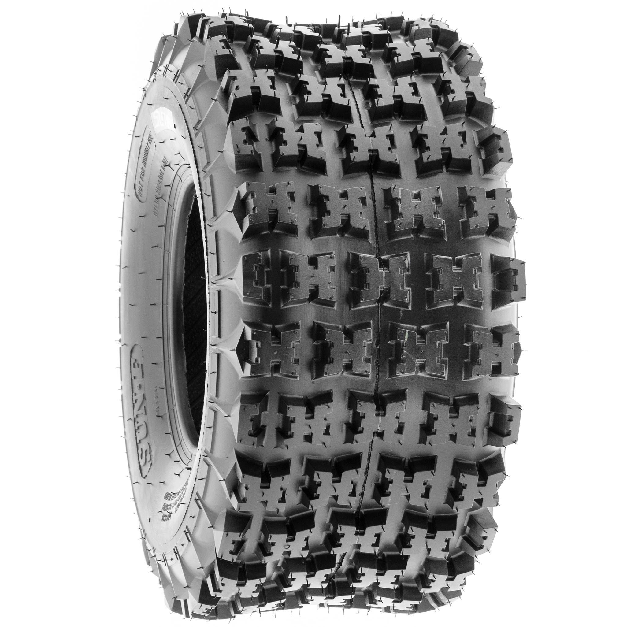 SunF 18x10.5-8 18x10.5x8 ATV UTV All Terrain Race Replacement 6 PR Tubeless Tires A027, [Set of 2] by SunF (Image #6)