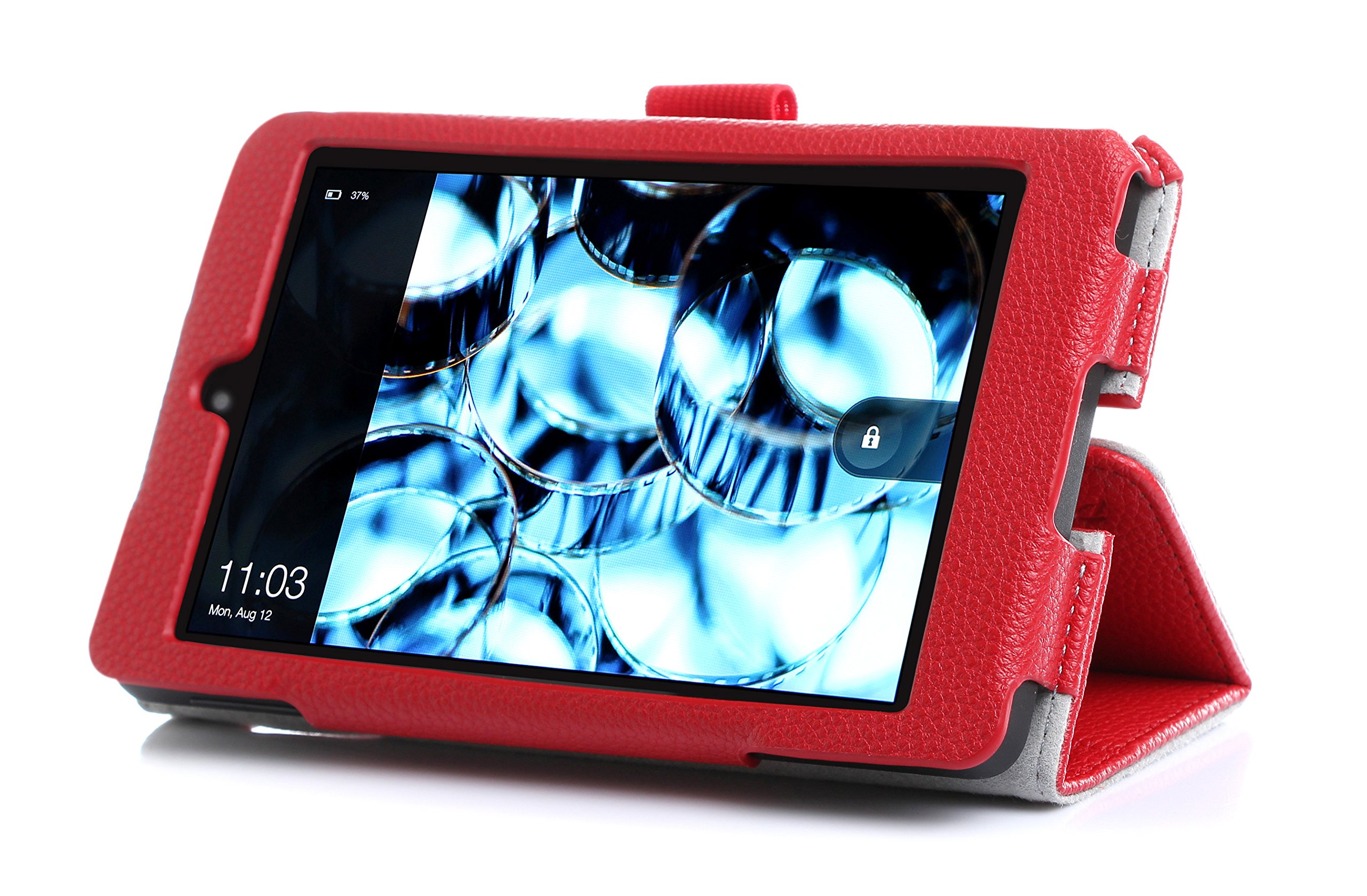Fire HD 6 Case - ProCase Stand Folio Protective Cover Case for Amazon Fire HD 6 Tablet (will only fit Fire HD 6, 2014 Edition), comes wth bonus procase stylus pen (Red)