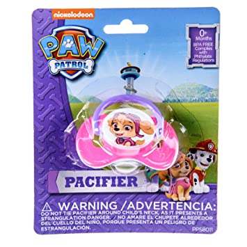 Amazon.com : Paw Patrol Pacifier BPA-Free 1-Pack Pink Paci ...