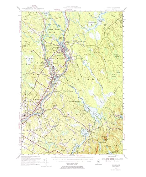 Amazon.com: YellowMaps Orono ME topo map, 1:62500 Scale, 15 ... on map of downtown orono, map of orono public library, map of minnesota cities and water,