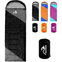 Sleeping Bag, Lightweight 3 Season Weather Sleep Bags for Kids Adults Girls Women, Cotton Hollow Filled 5-20 Degree for Backpacking/Hiking/Naturehike/Camping/Mountaineering with Compression Sack