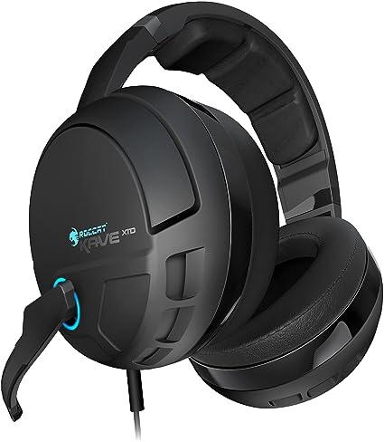 81789855756 ROCCAT KAVE XTD 5.1 Digital - Premium 5.1 Surround Headset with USB Remote  & Sound Card