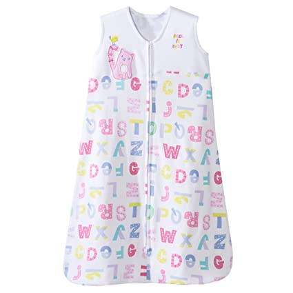 HALO SleepSack 100% Cotton Wearable Blanket, Pink Alphabet Pals, Medium by Halo