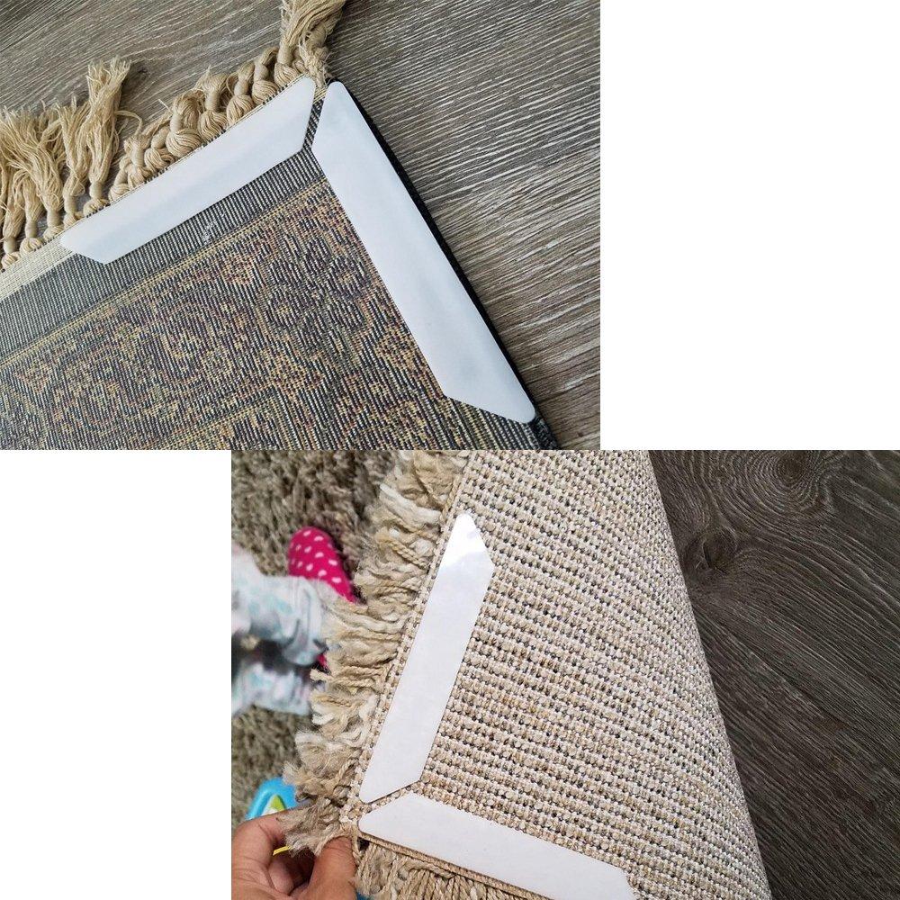 Biowow Rug Grippers Best 16 pcs Anti Curling Rug Gripper,Keep Carpet/Rug in Place& Makes Corners Flat Rug Gripper Pads for Hardwood Floors by Biowow (Image #7)