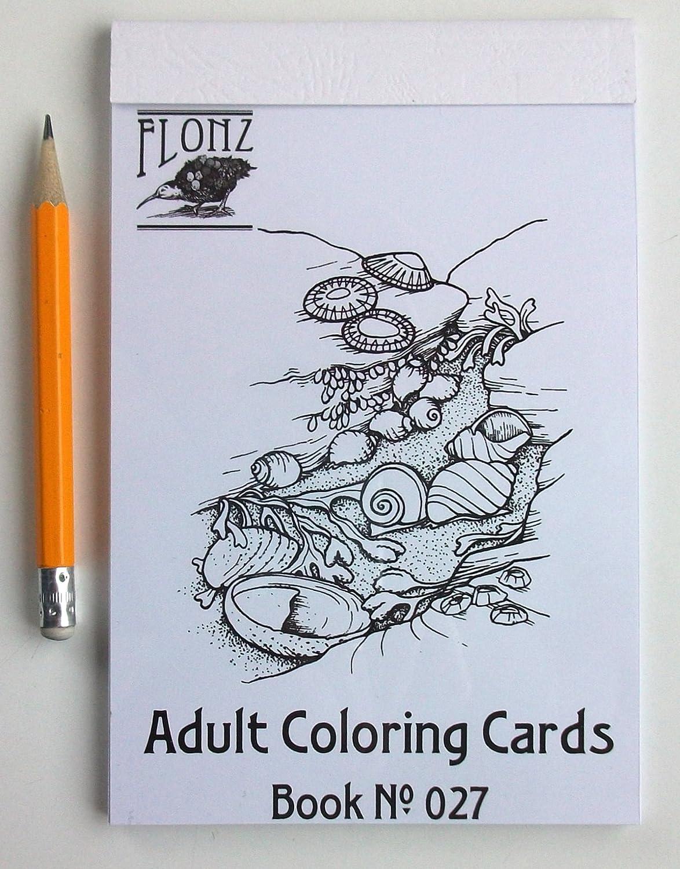 Mer coquillages et coraux Motif Vintage pour coloriage pour adultes 24/cartes 10,2/x 16,5/cm Livre de coloriage pour adultes