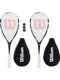 Pack of Dunlop Squash Balls Browning Oxylite 140 Nano Ti Squash Racket