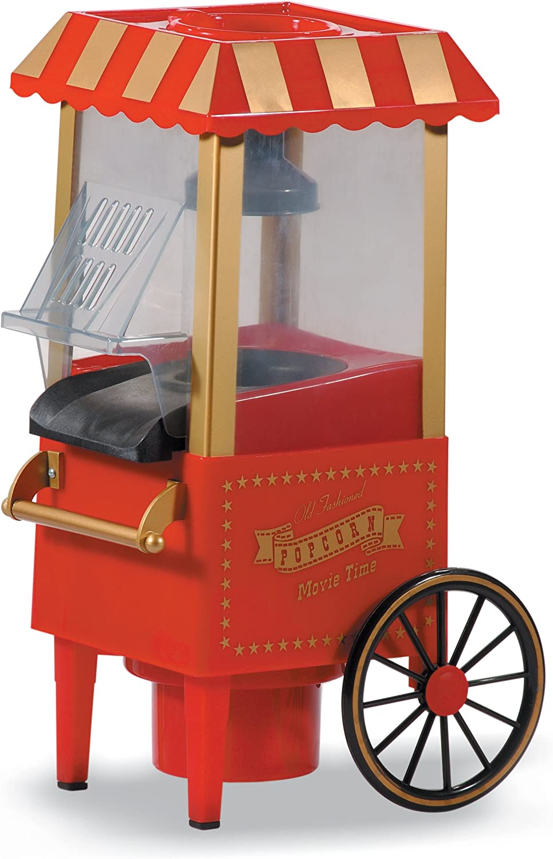 Máquina de palomitas con forma de carrito antiguo