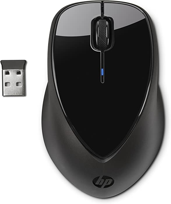 HP A0X35AA#ABA Wireless Mouse X4000 with Laser Sensor, Black