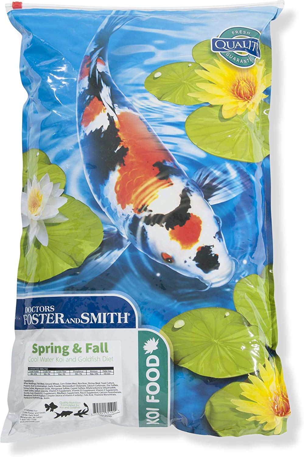 DRS. Foster and Smith Spring & Fall Coldwater Koi and Goldfish Food, 20 lbs.