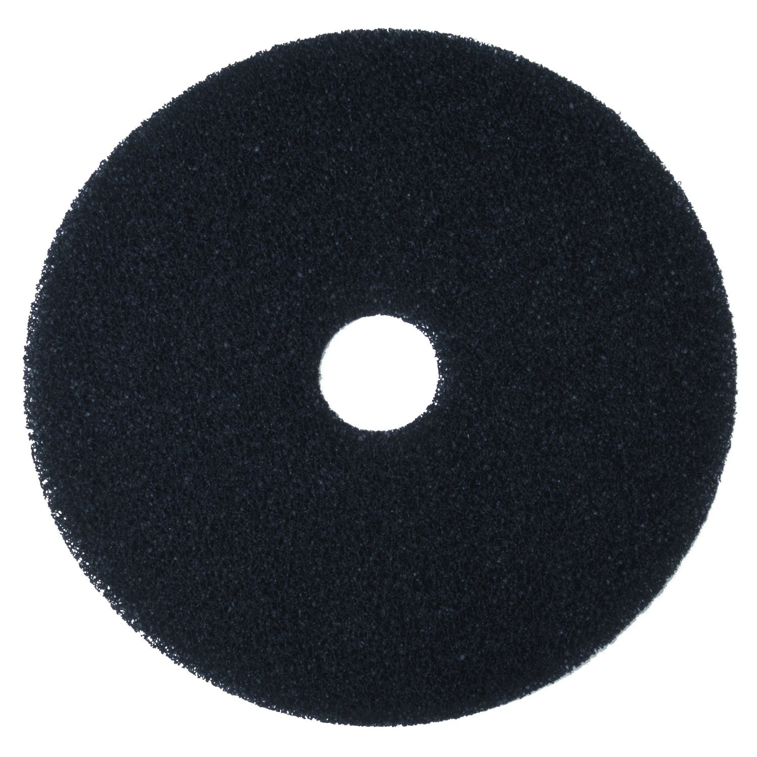 3M Black Stripper Pad 7200, 20'' Floor Care Pad (Case of 5) by 3M