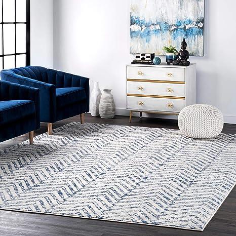 Nuloom Rosanne Geometric Area Rug 6 7 X 9 Blue Furniture Decor