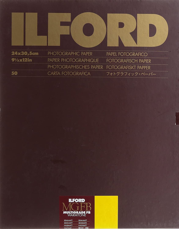Ilford Multigrade FB Warmtoneセミマット9.5センチメートルx 12インチ(24 x 30.5 50シート   B000RFPAH6