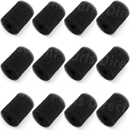 MAKHOON for Polaris Pool Cleaner Parts 12 Pack Sweep Hose Tail Scrubbers Replacement for Sweep Pool Cleaner Fits Polaris 180 280 360 380 480 3900 Polaris Pool Cleaner Backup Filter Parts