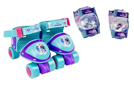 Frozen Patines Infantiles 4 Ruedas + Protecciones Darpeje OFRO019