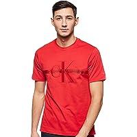 Calvin Klein Men's TAPING THROUGH MONOGRAM REG TEE S/S T-Shirt