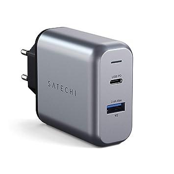 Satechi 30W Cargador Dual Puerto Adaptador con Puerto USB-C ...