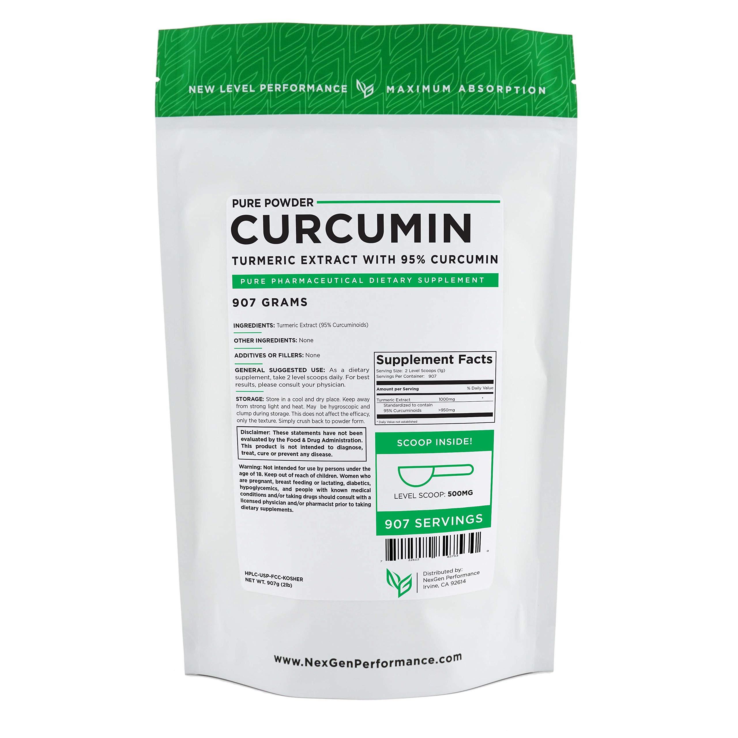 Curcumin 95% Curcuminoids -Natural Turmeric Extract Powder - Highest Quality (2lb (32oz))