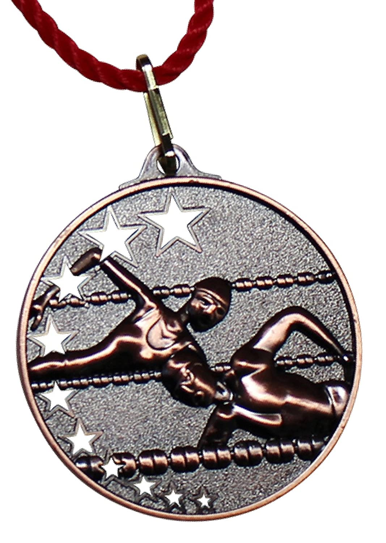 Trofeo König Medalla metal nadar Set Oro, Plata, 5,2cm Cordones de bronce Incluye, 10x Bronze Pokalkönig