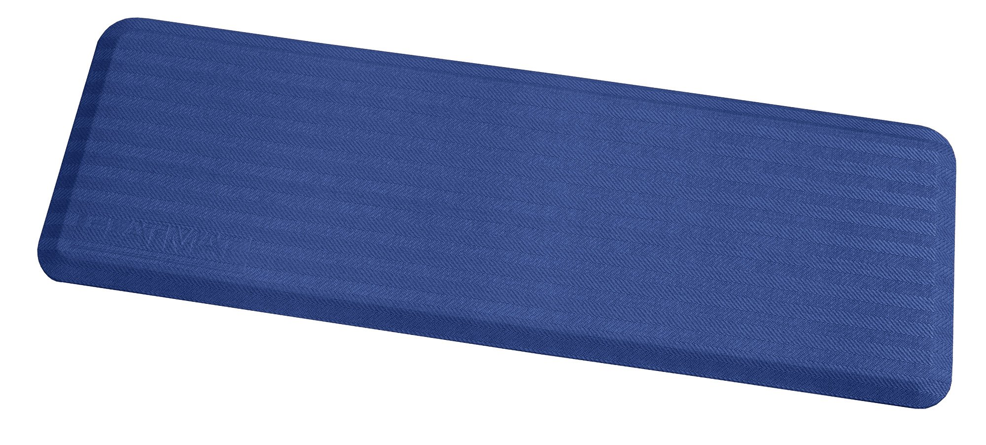 Arrowhead Healthcare Supply P-107350-36-07 FLATMAT, 36'' Wide, Bedside Fall Mat, Blue, Woven Pattern