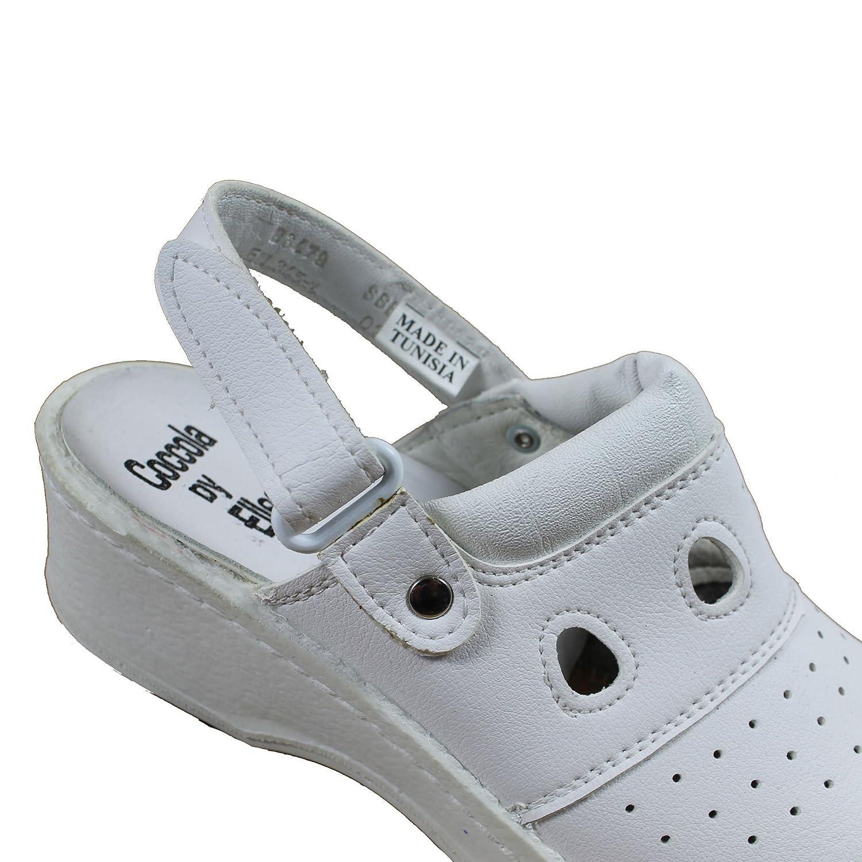Jal Group PBEA Sicherheitsandale Koch Chaussures de Travail Blanc Sandales /à Talons B Stock