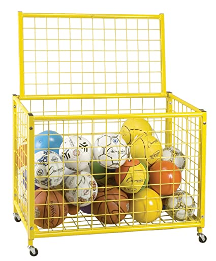 Champion Sports Locking Ball Storage Locker (27 Inch X 29 Inch X 31 Inch)