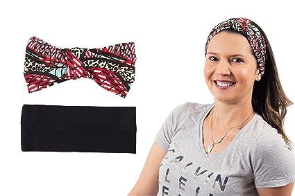 Laibella Women s Super Comfortable and Stretchy 2-Pack Headbands for Yoga eadbf400c9c