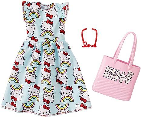 4e43540a5 Amazon.com: Barbie Hello Kitty Blue Dress Fashion Pack: Toys & Games