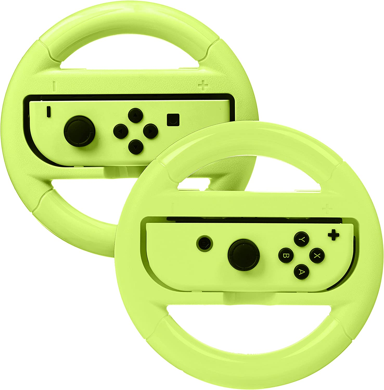 AmazonBasics - Volante para Nintendo Switch - Amarillo neón (pack ...