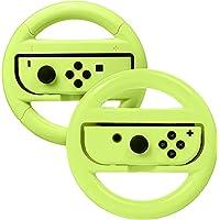 AmazonBasics Steering Wheel for Nintendo Switch - Neon Yellow (2 Pack)
