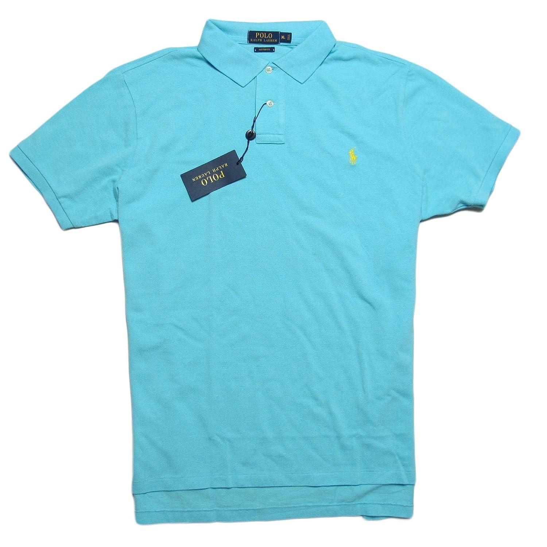 (ポロ ラルフローレン)POLO RALPH LAUREN 半袖ポロシャツ Custom-Fit Mesh Polo Shirt ハモンドブルー Hammond Blue [並行輸入品] B06XD5TW34   XXL