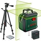 Bosch hårkorslaser AdvancedLevel 360 (arbetsområde: upp till 24 m, självnivellerande: upp till ± 4, grön laser, 4x AA…