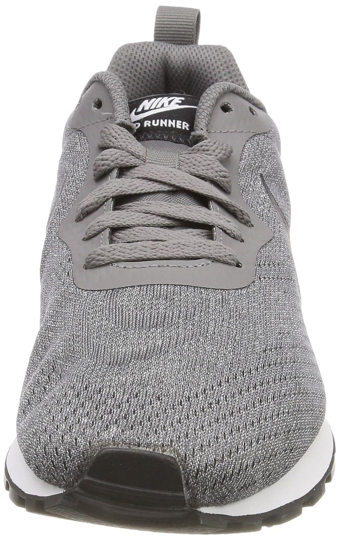 Nike MD Runner 2 Eng Mesh, Chaussures de Gymnastique Homme, Gris (Gunsmokeblackvapste Greywhite 003), 47.5 EU