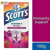 Scott's Vitamin C Pastilles, Children Supplement, Mixed Berries flavour, 100g
