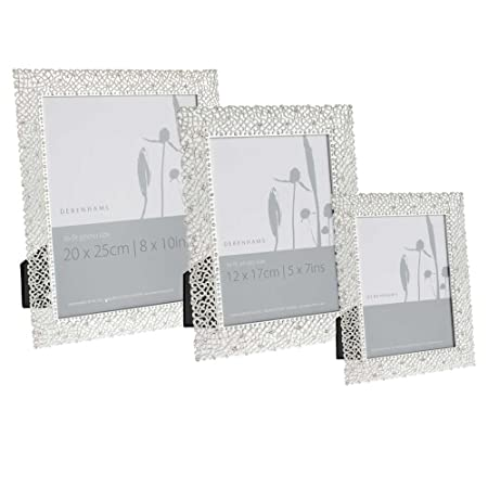 Debenhams Silver Delicate Diamante Photo Frame: Amazon.co.uk ...