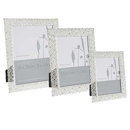 Debenhams Silver Delicate Diamante Photo Frame: Amazon.co.uk ...
