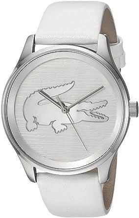 c124895d8c Amazon.com  Lacoste Women s Victoria Stainless Steel Quartz Watch with  Leather Strap