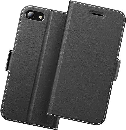 Holidi Cover iPhone 8 Libro, Custodia iPhone 7, Cover iPhone SE 2020, Cover a Libro iPhone 7, Portafoglio di Pelle PU con Supporto, Porta Carte, ...
