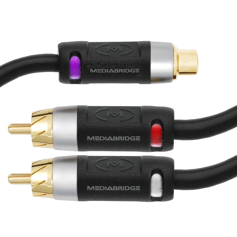 Amazon.com: Mediabridge ULTRA Series RCA Y-Adapter (12 Inches) - 1 ...