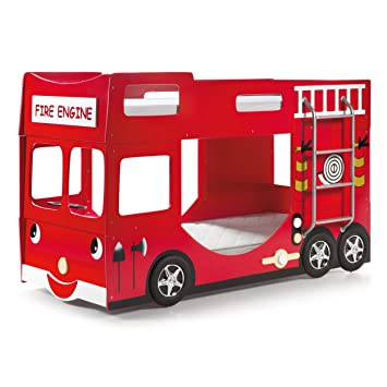 Vipack Fire Engine Bunk Bed Bunk Scftbb19 Mdf Red 211 X 96 X 130 Cm