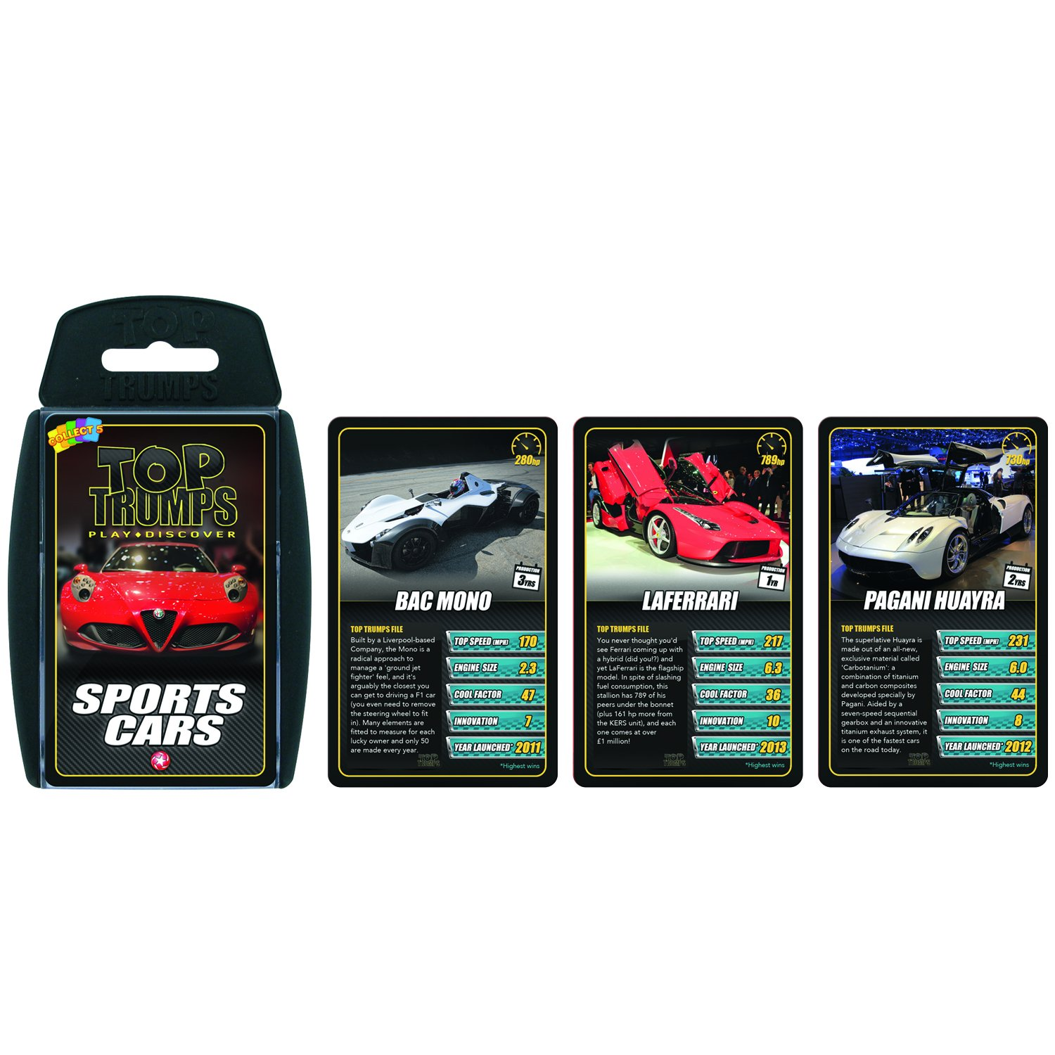 Amazoncom Sports Cars Top Trumps Card Game Educational Card - Sports cars top trumps