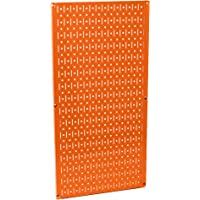 "Wall Control 30-P-3216 OR 32"" x 16"" Orange Metal Pegboard Tool Board Panel"