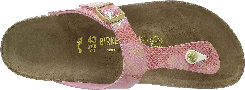 Birkenstock Gizeh Birko Flor, Tongs Femme, Pink (Shiny Snake