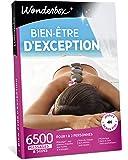 Wonderbox – Coffret cadeau femme - BIEN ETRE D'EXCEPTION – 6500 soins dont rituel polynésien au monoï, massage à la bougie, soins du visage, bain aromatique pour 1 à deux personnes