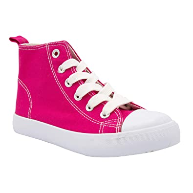 673b497b81 ZOOGS Fashion High-Top Canvas Sneakers Girls Boys Youth, Toddlers & Kids  Light Pink