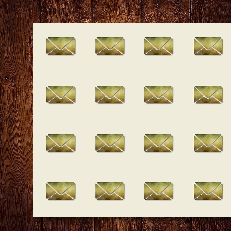 メールメールメールメッセージ インボックス 封筒 クラフトステッカー 44枚 1.5インチ スクラップブック パーティー シール DIYプロジェクト アイテム563896 B07D6KL8ZQ