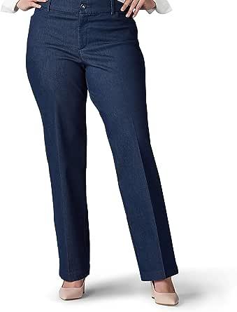 Lee Womens 48551 Plus Size Flex Motion Regular Fit Trouser Pant Pants