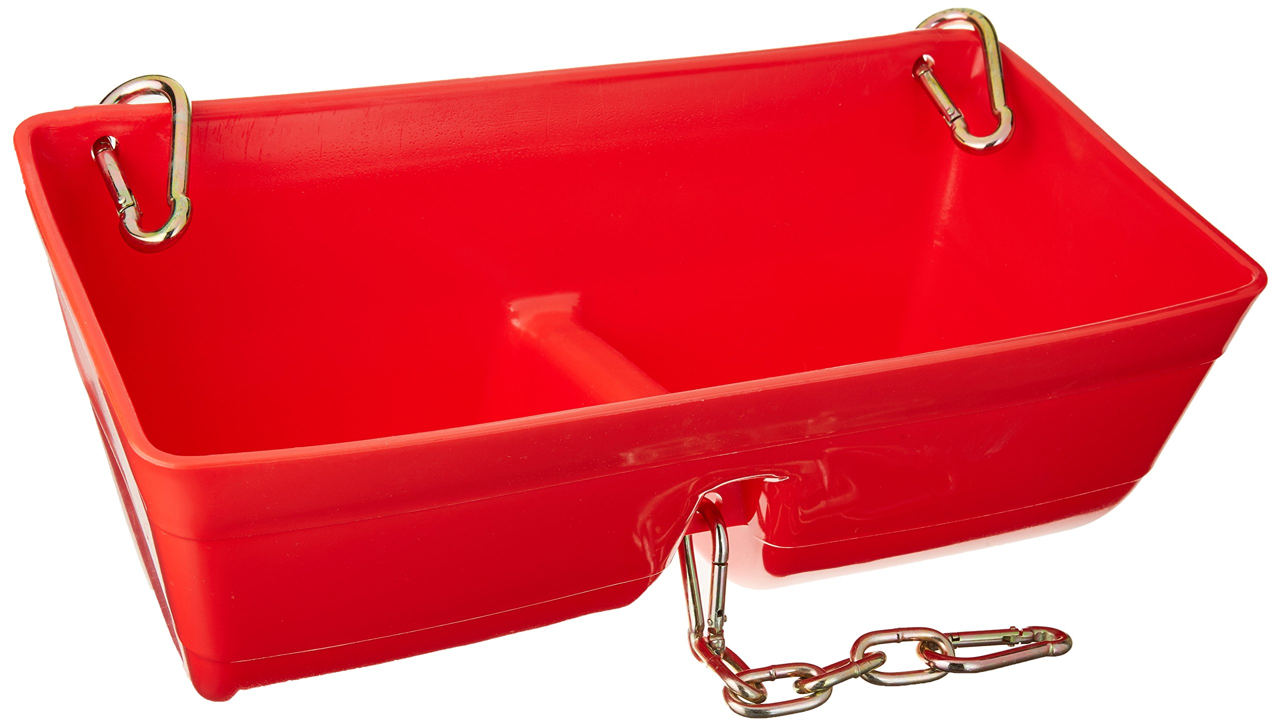 Little Giant Fence Feeder with Clips and Chain, 16-Inch, Red (FF16RED)