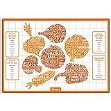 Tovolo Silicone Veggie Roasting Mat, Non-Stick, Printed with Roasting Times & Seasonings, Dishwasher Safe